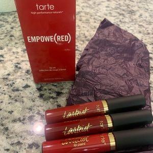 Tarte Empowe(red) lipstick lip set bundle
